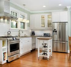 Medium Size Of Small Kitchen Deco Best Paint Finish For Cabinets Range Hood  In Front Of