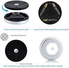 Top Honderd 6 Stuks Sensor Lamp Op Batterijen Led Sensor