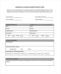 Sample Workplace Incident Report Magdalene Project Org