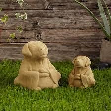 garden sculpture. Zen Dog Garden Sculpture 1 Thumbnail U
