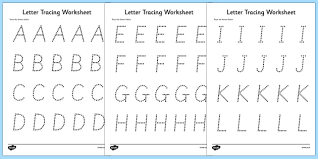 T L 1895 Letters Numbers and Shapes Tracing Worksheet ver 2