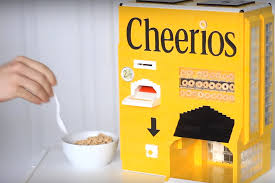 Who Invented The Vending Machine New Cheerios Vending Machine Made Of LEGOs Changes Breakfast Products