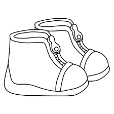 Small Picture Shoe Coloring Page Printable Coloring Pages Ideas