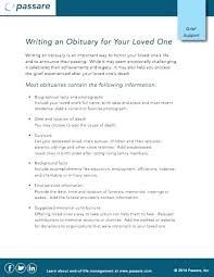 Printable Sample Obituary Life Sketch Funeral Example Outline ...