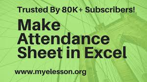 Employee Attendance Sheet In Excel For Office Hindi Make Attendance Sheet In Excel Youtube