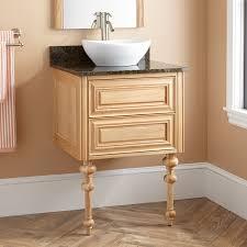 24 fania wall mount vessel sink vanity oak