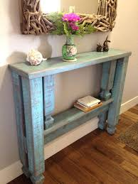 entry hall table. Entry Hall Furniture Rustic Blue Stained Wooden Entryway Table With Single Shelf