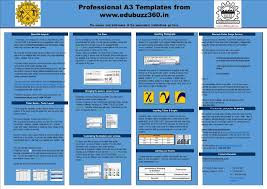 A3 Presentation Template A3 Templates For Project Poster