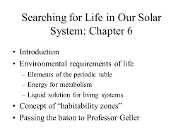 Searching for Life in Our Solar System: Chapter 6 Introduction ...