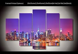 hd printed new york city skyline poster 5 piece painting wall art room decor poster canvas free shipping up 639 in painting calligraphy from home garden  on new york city skyline canvas wall art with hd printed new york city skyline poster 5 piece painting wall art