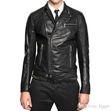 slim fit biker leather jacket hot fashion jpg