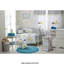 baby boy girl grey safari 4 pc crib bedding sets crib bedding collection