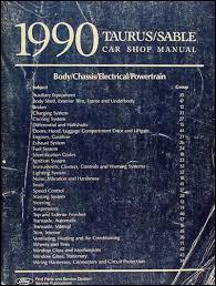 1990 ford taurus mercury sable repair shop manual original 1990 ford taurus mercury sable shop manual original