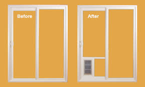 an installation that replaces the glass panel in your door with a patent pending conversion kit