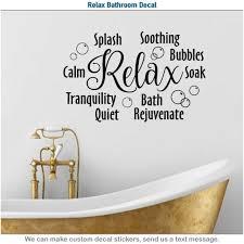 relax bathroom splash bath soak shower wall art decor vinyl sticker decal 007