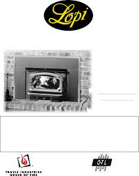 lopi freedom fireplace insert manual