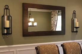 rustic wall mirrors candle sconces wall decor dining room rustic wall mirror set
