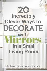 mirrors in a small living room