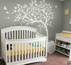 tree wall decals nursery baby nursery with white crib and tree wall decal baby nursery baby
