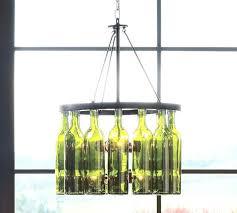 glass bottle chandelier glass bottle chandelier kit