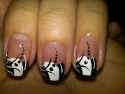 Pictures Of Black And White Nail Designs Cute Simple Black And White Nail Designs 31 Anextweb