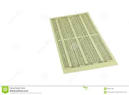 1040 Chart Sales Tax Calculator Chart Isolated Stock Photo Image Of