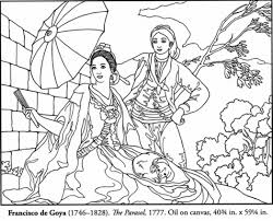 Free Spanish Masterpiece Coloring Page Picture