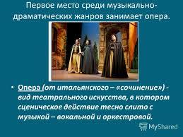 Презентация на тему Опера История и строение оперы Первое место  2 Первое
