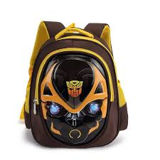 <b>Transformers</b> Bumblebee <b>Kid School Bag</b> Children Bag 3D Cartoon ...