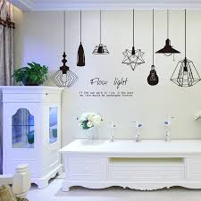 Small Picture Aliexpresscom Buy Shine Light Bulb Wall Sticker Living Room