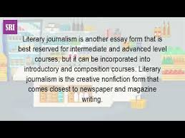 what is a literary journalist  what is a literary journalist