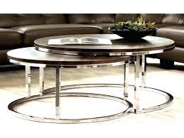 nesting coffee tables round nesting cocktail table round nesting coffee table new modern chrome 2 piece nesting coffee tables round