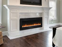 recessed wall mount electric fireplace stylish napoleon allure 60 nefl60fh hanging or in 12
