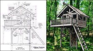 tree house designs and plans. Awesome Tree House Building Plans - New Home Design Designs And T