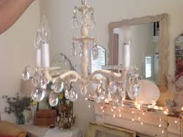 vintage shabby chic chandelier shabby chic crystal chandelier vintage shabby by