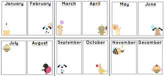 Free Birthday Chart Template