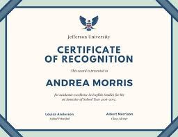 certificate of recognition templates cream and teal border certificate of recognition templates by canva