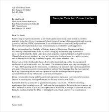 Sample Teacher Expression of Interest Cover Letter