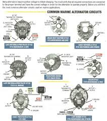 marine alternator wiring diagram gooddy org how to wire an alternator to charge a battery at Alternator Connections Diagram