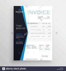 Modern Invoice Blue Modern Invoice Template Design Stock Vector Art Illustration