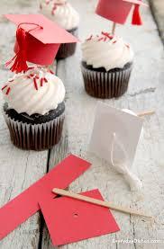 Graduation Cap Cupcake Toppers Instructions Recipe Graduation
