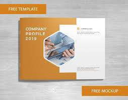 Company Profile Free Template And Mockup Download On Behance