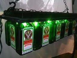 jager pool bar light table jagermeister pool table chandelier liquor bottle desk lamps hookah pipes highball glasses lowball glasses barware more