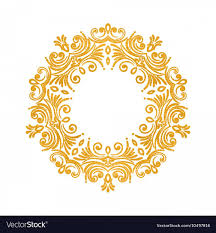 black vintage round frame vector elegant luxury vintage round gold fl frame vector