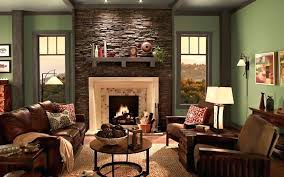 Living Room With Brick Fireplace Paint Colors Ideas Color Selector