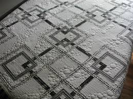 103 best Quilts - Modern Inspiration images on Pinterest   Quilt ... & love the monochrome AND the random pebble quilting!  http://murdockmanor.blogspot Adamdwight.com