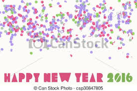 happy new year banner 2016. Exellent 2016 Happy New Year 2016 Confetti Party Holiday Banner  Csp30847805 And New Year Banner A