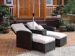 outdoor lounge recliner chairs bed with table