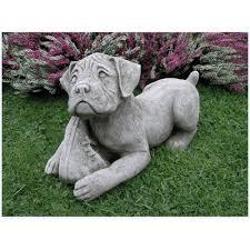 dog garden statue. Boxer Dog Garden Statue, Usage: Exterior Decor Statue