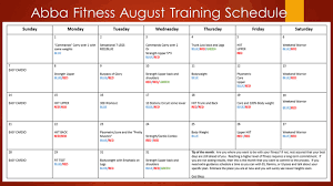 Monthly Workout Schedule Sport1stfuture Org